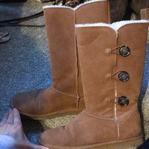 Tall American eagle boots